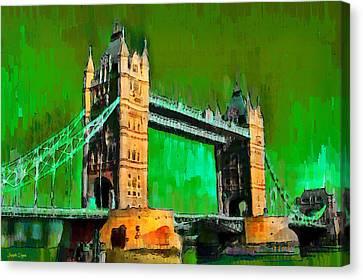 London Tower Bridge 11 - Da Canvas Print by Leonardo Digenio