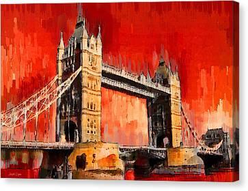London Tower Bridge 12 - Pa Canvas Print