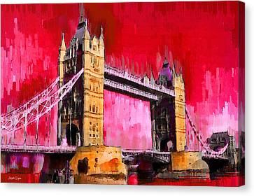 London Tower Bridge 13 - Pa Canvas Print by Leonardo Digenio