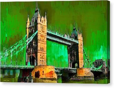 London Tower Bridge 14 - Da Canvas Print by Leonardo Digenio