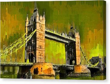 London Tower Bridge 15 - Da Canvas Print