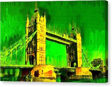 London Tower Bridge 17 - Pa Canvas Print by Leonardo Digenio