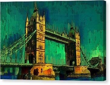 London Tower Bridge 18 - Da Canvas Print by Leonardo Digenio