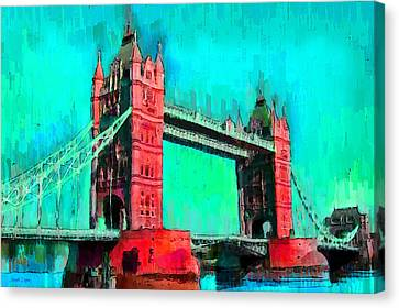 London Tower Bridge 5 - Da Canvas Print by Leonardo Digenio