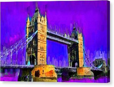 London Tower Bridge 6 - Pa Canvas Print by Leonardo Digenio