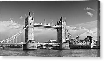 London Tower Bridge Monochrome Canvas Print