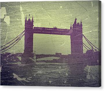 Downtown Canvas Print - London Tower Bridge by Naxart Studio