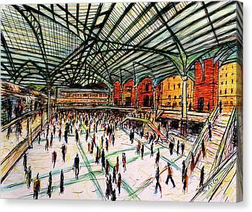 London Train Station Canvas Print