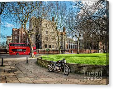 Canvas Print featuring the photograph London Transport by Adrian Evans