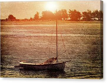 Lone Boat Canvas Print by Garry Gay