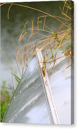 Lone Canoe Canvas Print by Greg Sharpe