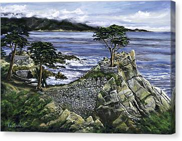 Lone Cypress Canvas Print by Lisa Reinhardt