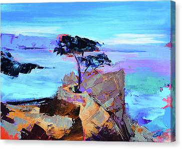 Lone Cypress Canvas Print by Elise Palmigiani