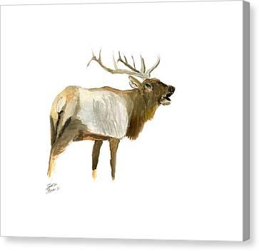 Lone Elk Canvas Print