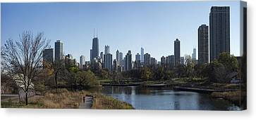 Lone Exerciser Of Lincoln Park - Chicago Canvas Print