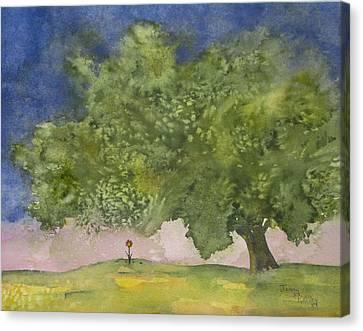 Lone Flower Canvas Print