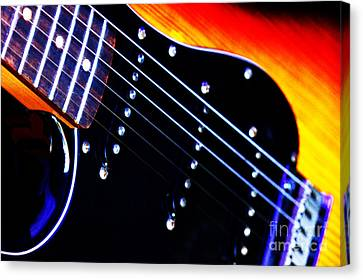 Lone Guitar Canvas Print by Stephen Melia