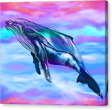 Lone Humpback Whale  Canvas Print by Nick Gustafson