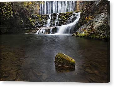 Lone Rock At The Falls Canvas Print