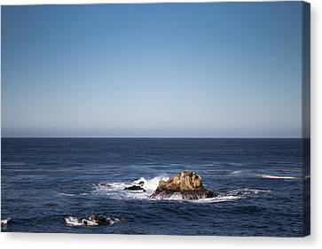 Canvas Print featuring the photograph Lone Rock In The Ocean by Jingjits Photography