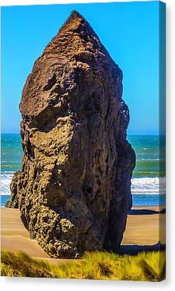 Lone Rock Oregon Beach Canvas Print by Garry Gay