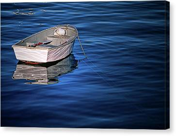 Lone Rowboat Canvas Print