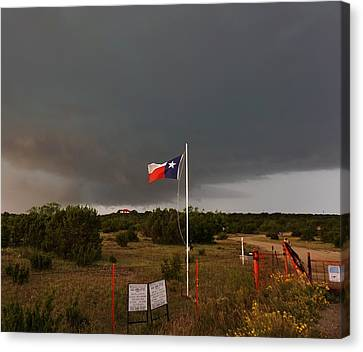 Canvas Print featuring the photograph Lone Star Supercell by Ed Sweeney