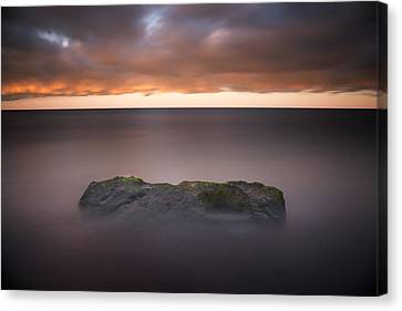 Canvas Print featuring the photograph Lone Stone At Sunrise by Adam Romanowicz