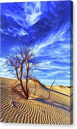 Lone Tree At Sandhills Canvas Print
