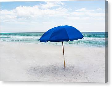 Lone Umbrella Canvas Print by Shelby  Young