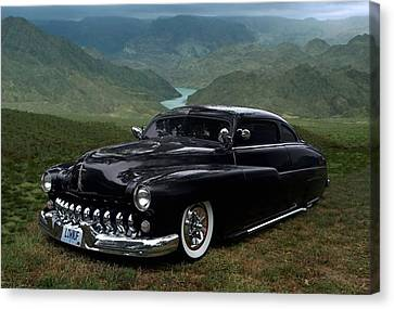 Lone Wolf 1949 Mercury Low Rider Canvas Print by Tim McCullough