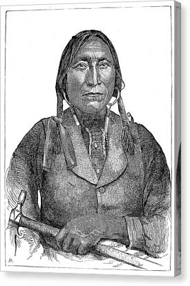 Lone Wolf, C1850 Canvas Print by Granger