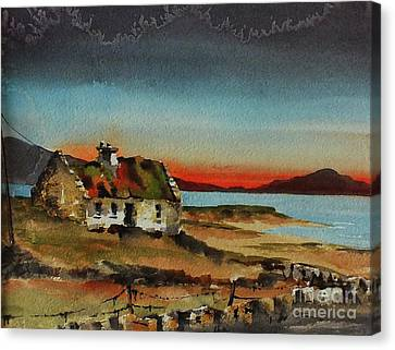 Loneley Cottage Nr Ardara Donegal Canvas Print
