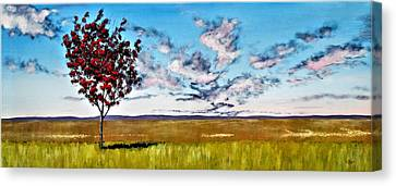 Lonely Autumn Tree Canvas Print