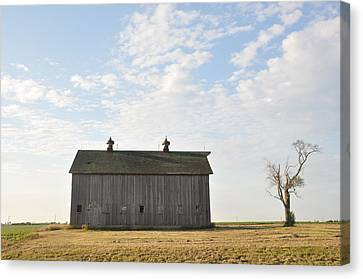Lonely Barn Canvas Print by Daniel Ness