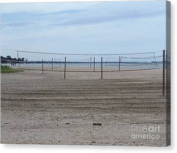 Lonely Beach Volleyball Canvas Print