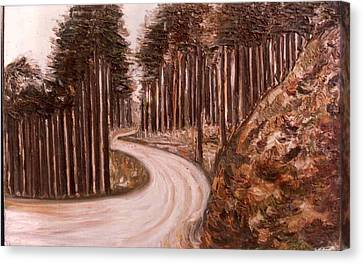 Lonely Curve Canvas Print by Anand Swaroop Manchiraju