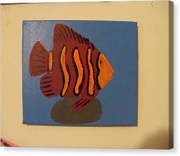 Lonely Fish Canvas Print by Rhonda Jackson