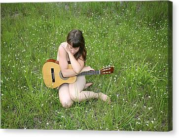 Lonely Guitar Canvas Print by Lucky Cole