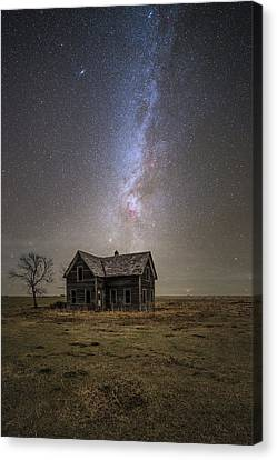 Abandoned Houses Canvas Print - Lonely House by Aaron J Groen