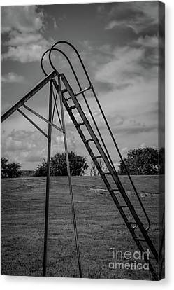 Lonely Ladder Canvas Print by Jon Burch Photography