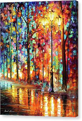 Canvas Print - Lonely Light by Leonid Afremov