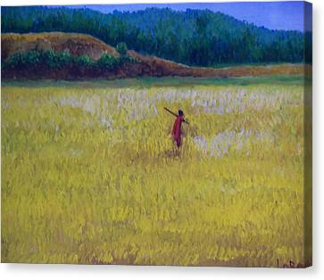 Lonely Masaai Canvas Print