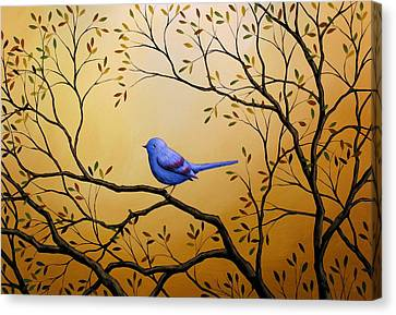 Lonely Night By Amy Giacomelli Bird Art Canvas Print by Amy Giacomelli