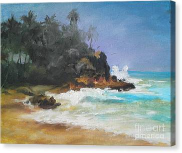 Canvas Print featuring the painting Lonely Sea by Rushan Ruzaick