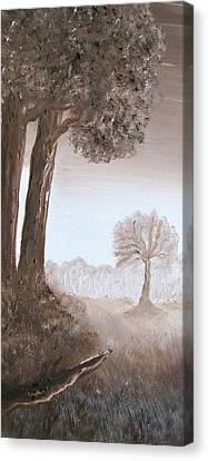 Burnt Umber Canvas Print - Lonely Trees by Kimby Faires