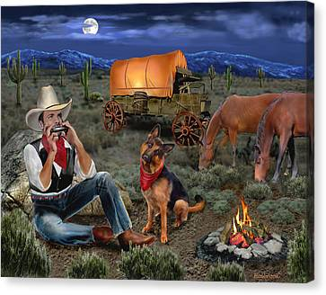 Lonesome Cowboy Canvas Print