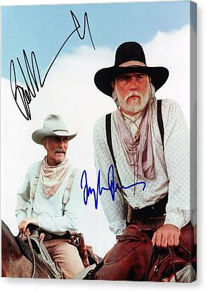 Lonesome Dove Gus And Call Signed Print Canvas Print by Peter Nowell