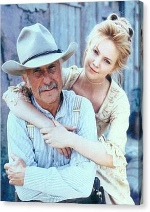 Lonesome Dove Gus And Lori Canvas Print by Peter Nowell