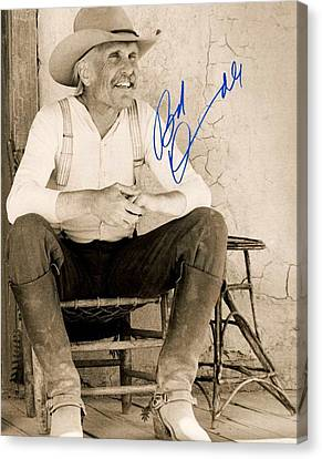 Lonesome Dove Gus Signed Print Canvas Print by Peter Nowell